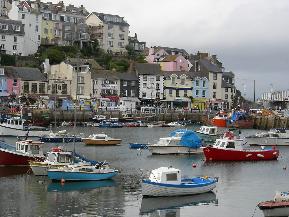 brixham harbour by ian taylor