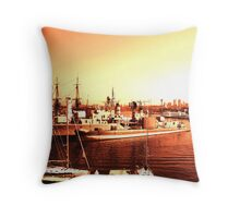 Golden Harbour Throw Pillow
