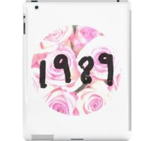 1989 (Floral) iPad Case/Skin