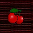 Polka dots and Pair of Cherries in Black by Tee Brain Creative