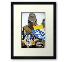 Knight in Chainmail  Framed Print