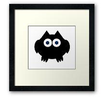 Blue Eyed Owl Framed Print