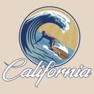 Surfing in California by BurrowsImages