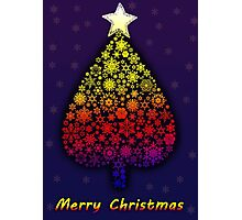 Colored Christmas tree Photographic Print