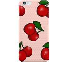 Polka dots and Cherry Pattern in Candy Pink iPhone Case/Skin