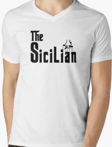 The Sicilian T-Shirt Mens V-Neck T-Shirt
