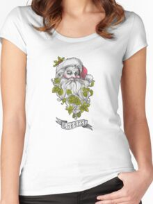 Craft Beer Santa - Cheers! Women's Fitted Scoop T-Shirt
