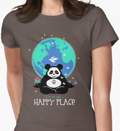 I'm in my Happy Place. Womens Fitted T-Shirt