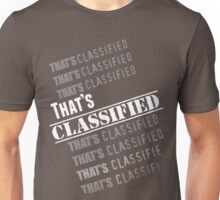 """That's Classified"" - Eugene Porter (White Text) Unisex T-Shirt"