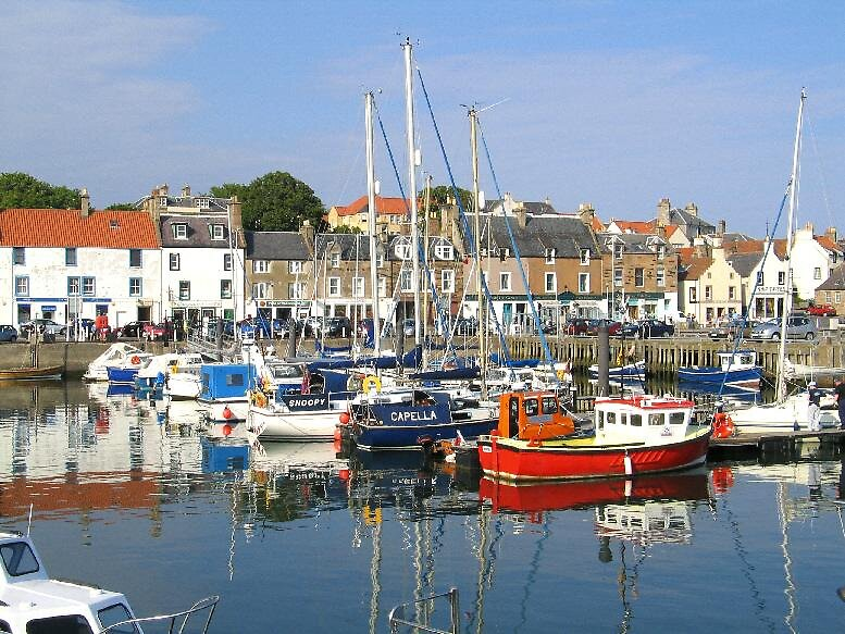 Anstruther Scotland Fishing Village by John  Simmons