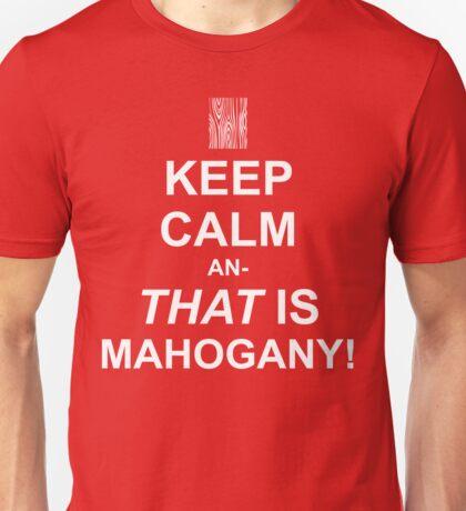 Calming Mahogany-White Unisex T-Shirt