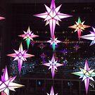 Holiday Lights, Time Warner Center, Columbus Circle, New York City  by lenspiro