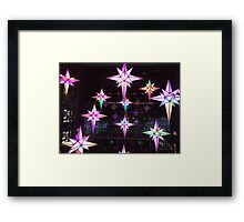 Holiday Lights, Time Warner Center, Columbus Circle, New York City  Framed Print