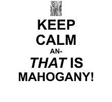Calming Mahogany-Black Photographic Print