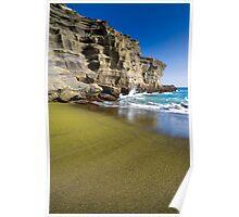 Green Sand Beach Poster