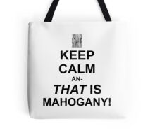 Calming Mahogany-Black Tote Bag