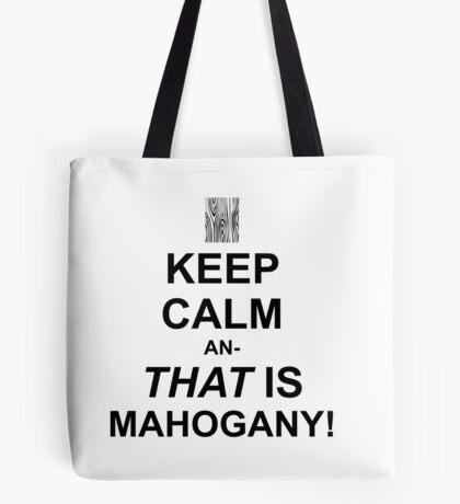Calming Mahogany-Black Tote Bag
