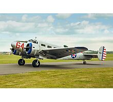 Beechcraft D18S Expeditor 3TM 1164 G-BKGL Photographic Print
