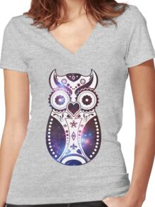 Galactic Sugar Bird Women's Fitted V-Neck T-Shirt