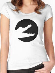 Crocodile moon Women's Fitted Scoop T-Shirt