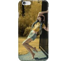 Morgin Fence IR  iPhone Case/Skin