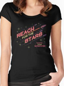 REACH FOR THE STARS Women's Fitted Scoop T-Shirt