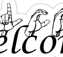 Welcome in ASL Sticker