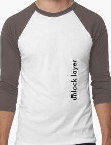 Unlock Layer - Side Men's Baseball ¾ T-Shirt