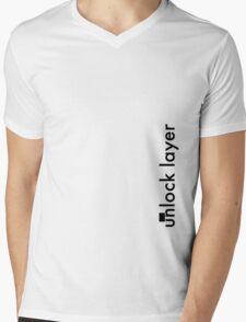 Unlock Layer - Side Mens V-Neck T-Shirt