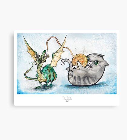 Attack of the Dragon Canvas Print