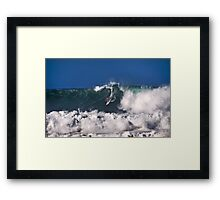 Andy Irons At 2009 Quiksilver in Memory of Eddie Aikau Contest 3 Framed Print