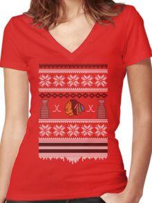 Hawksmas Sweater Women's Fitted V-Neck T-Shirt