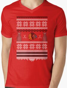 Hawksmas Sweater Mens V-Neck T-Shirt