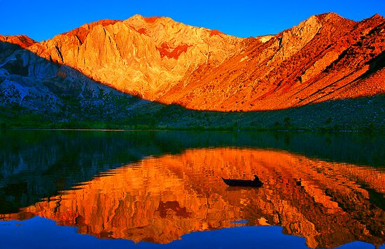 Sunset  in Convict Lake, Mammoth Lakes, California by Eyal Nahmias