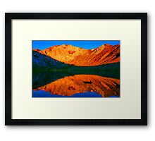 Sunset  in Convict Lake, Mammoth Lakes, California Framed Print