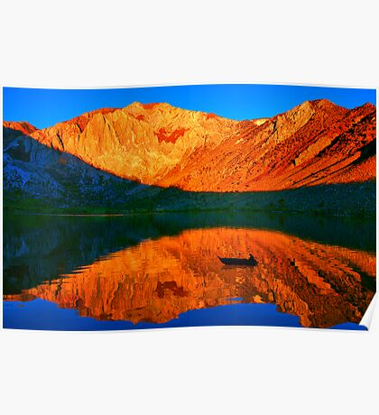 Sunset  in Convict Lake, Mammoth Lakes, California Poster