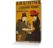 'Absinthe' by Leonetto Cappiello (Reproduction) Greeting Card