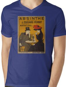 'Absinthe' by Leonetto Cappiello (Reproduction) Mens V-Neck T-Shirt