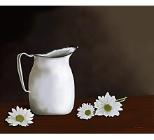 Daisies And Pitcher Photographic Print