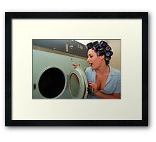 Retro Pin Up - Sparkly Kleen Framed Print