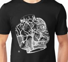 Veins of head (white) Unisex T-Shirt