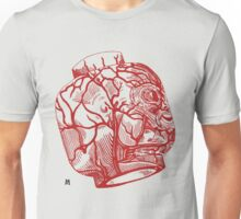 Veins of head (red) Unisex T-Shirt