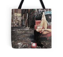 """Retro Pin Up, """"Wish you were here..."""" Tote Bag"""