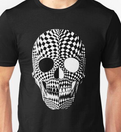 BiPolar Skull Black and White High Contrast Mental Disorder  Unisex T-Shirt