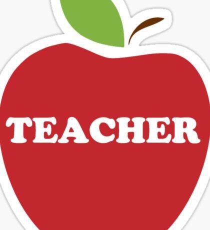 I'm a Teacher Red Apple Sticker