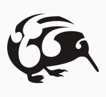 Large Black Koru Kiwi by piedaydesigns