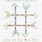 N S E W Arrows | You're The One I Love The Best by Cherie Balowski