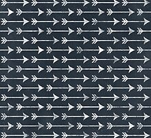 PRINTED Chalkboard Arrow Pattern - Black and White Tribal by PatternPrint