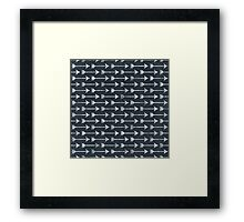 PRINTED Chalkboard Arrow Pattern - Black and White Tribal Framed Print