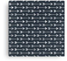 PRINTED Chalkboard Arrow Pattern - Black and White Tribal Canvas Print